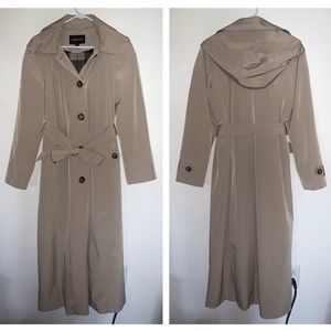 London Fog Full Length Trench Rain Coat